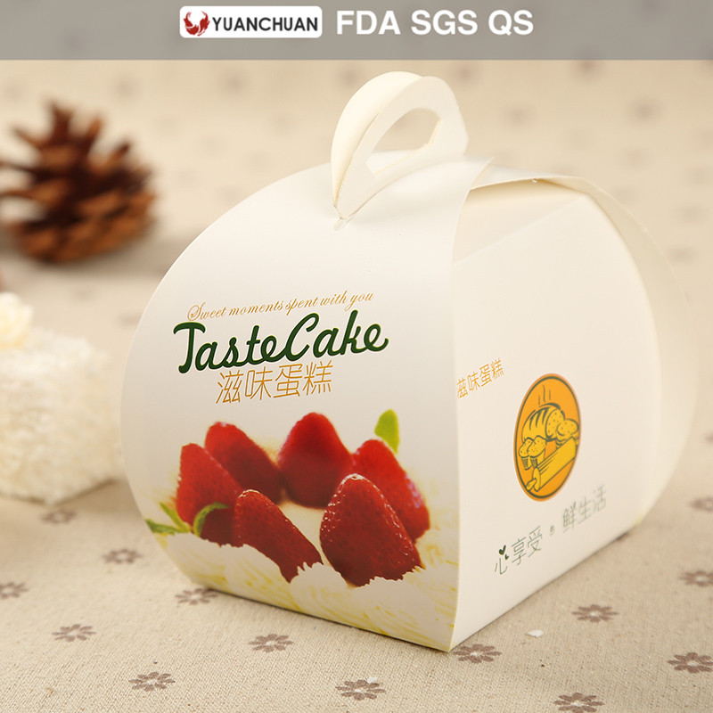 Disposable food paper birthday cake box for bakery shop