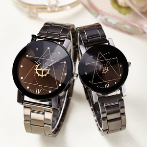 Man Woman Clocks Couple Lovers Analog Quartz Full Stainless Steel Band Sports Watches Men