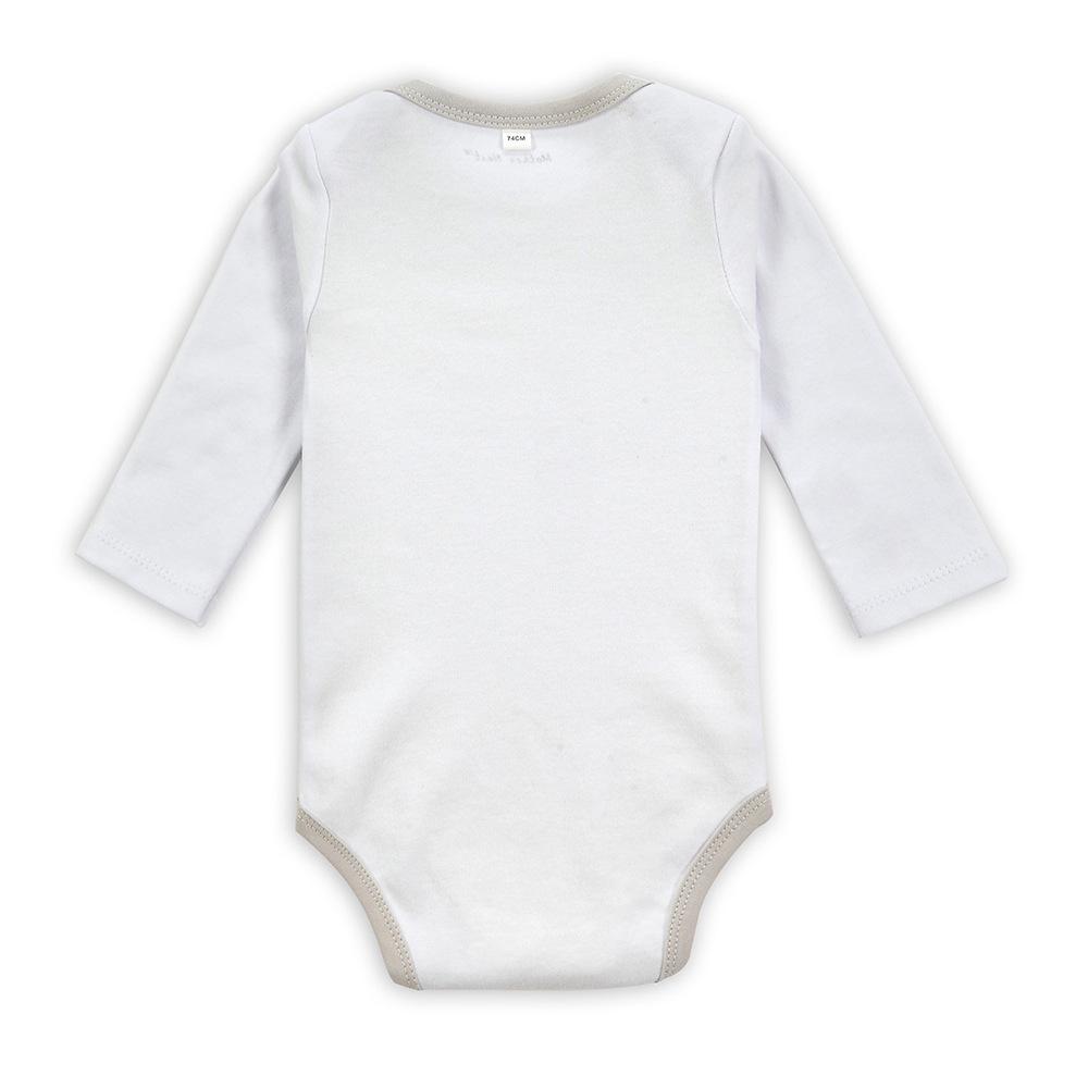 Babykleding Print.Custom Print Biologische Katoenen Baby Jumpsuit Pasgeboren