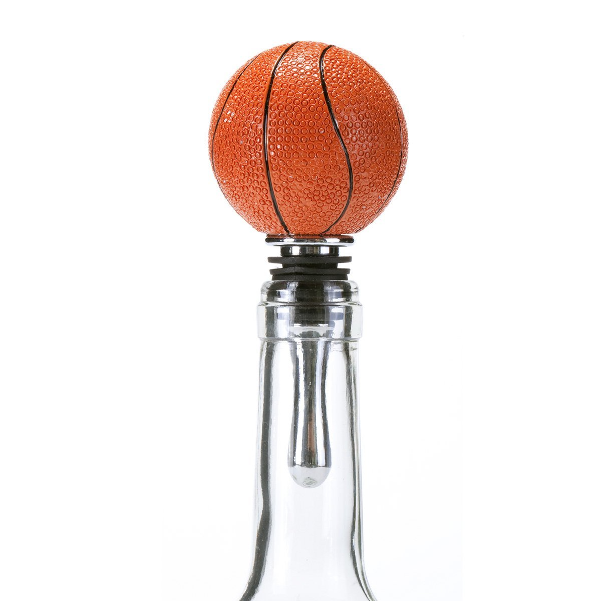 Oenophilia Sports Wine Ball Stopper, Basketball