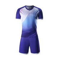 Dry Fit Sports Fabric Customizing Sport Uniforms Sublimation Soccer Football Set