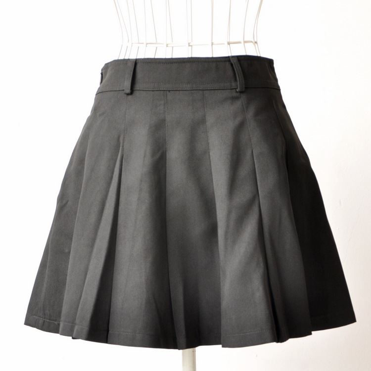 eaaf1f9685 Get Quotations · Scotland plaid skirt, England plaid skirt black pleated  skirt