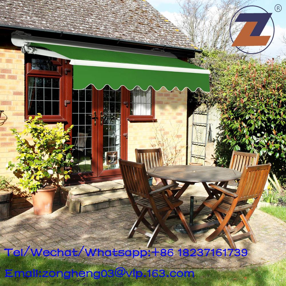 Hot selling polyester half cassette retractable patio awning