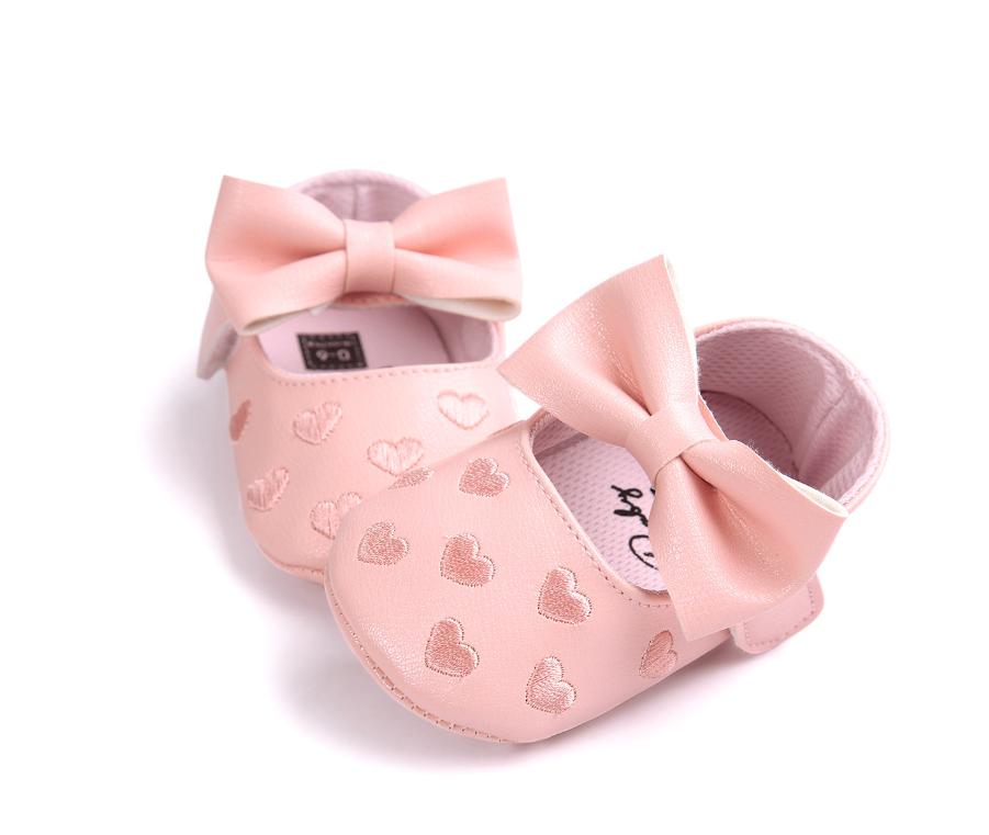 2019 детские первые ходунки лук узел обувь Мягкая кожа prewalker для маленьких девочек Повседневное платье балетные туфли