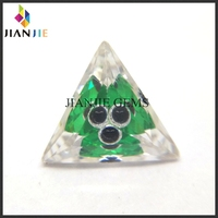 Factory price zambian emerald Triangle cut stone evil eye