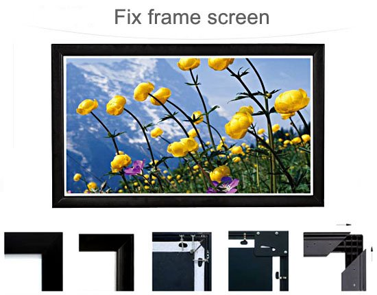 120 Inch 4k 16:9 HD, Frame Fixed Anti-Crease Projector Screen For Home Theater