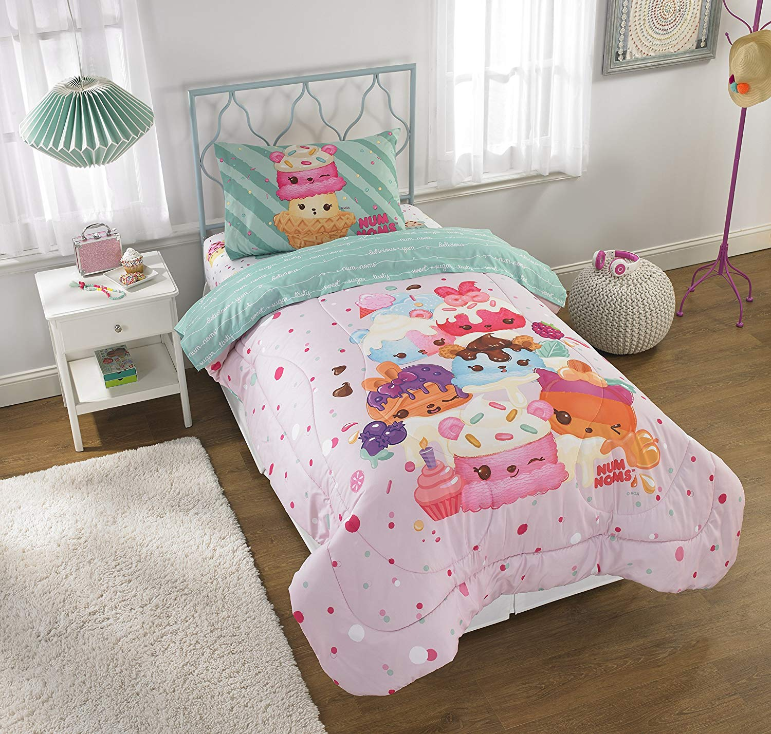 Keeco Num Noms Smells Happy Kids Bedding Scented Twin Comforter and Cordinating 3 pc Twin Sheet Set with Extra Coordinating 3pc Twin Sheet Set #521916775