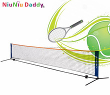 customized color/size nylon mesh net folding tennis net for fun