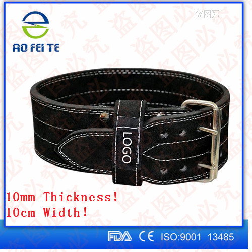 Crossfit 10mm PowerLifting Lever Buckle Belt / men's Weightlifting Belts