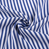 New fashion blue and white stripe yarn dyed color stripe woven challis cotton plain fabric