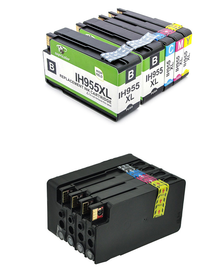 Supricolor Use OfficeJet Pro 7740 8210 8710 8720 8730 8740 8727 8745 compatible for hp 955 black ink cartridge