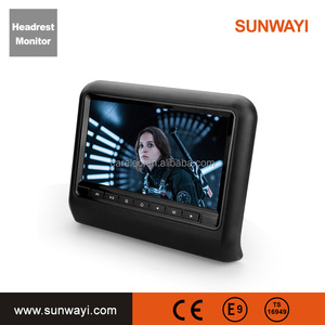 Made in china touch button 9'' headrest dvd / car stereo / car dvd player