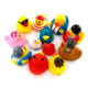 Hot selling Amazon Custom Eco-friendly baby Plastic PVC vinyl floating squeaky bath duck toy