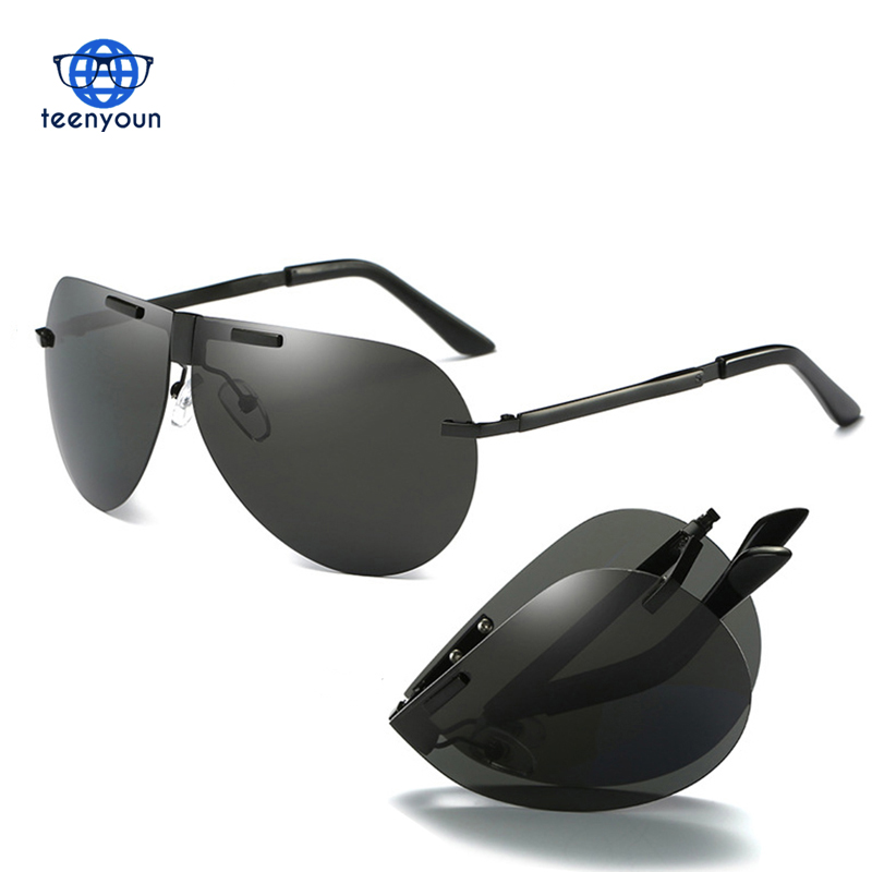 Fashion Folding Polarized Sunglasses Men Brand Foldable Driving Sun Glasses For Male Safety Driving Fishing Female Sun Eyewear
