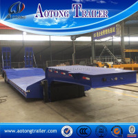 China heavy equipment trailer manufacturers, 3 axle low loader trailer for sale