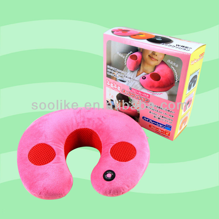 newest function microbeads stuffed plush pillow neck music pillow
