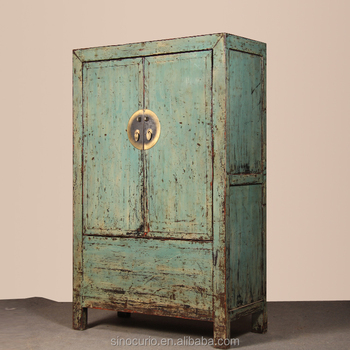 Chinese Antique Furniture Recycle Wood Armoire