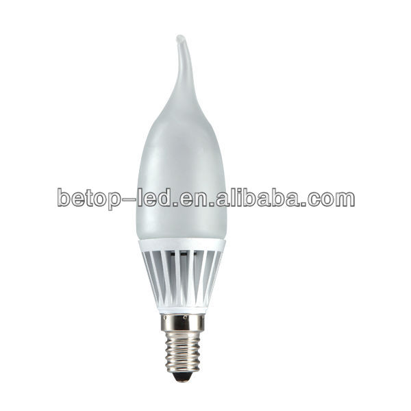 CE ROHS 5W flame led candle E14 Ra80 420Lm 35W halogen replacement