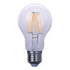 6W A60 led filament bulb, 85-265v led light, all glass filament led lamp