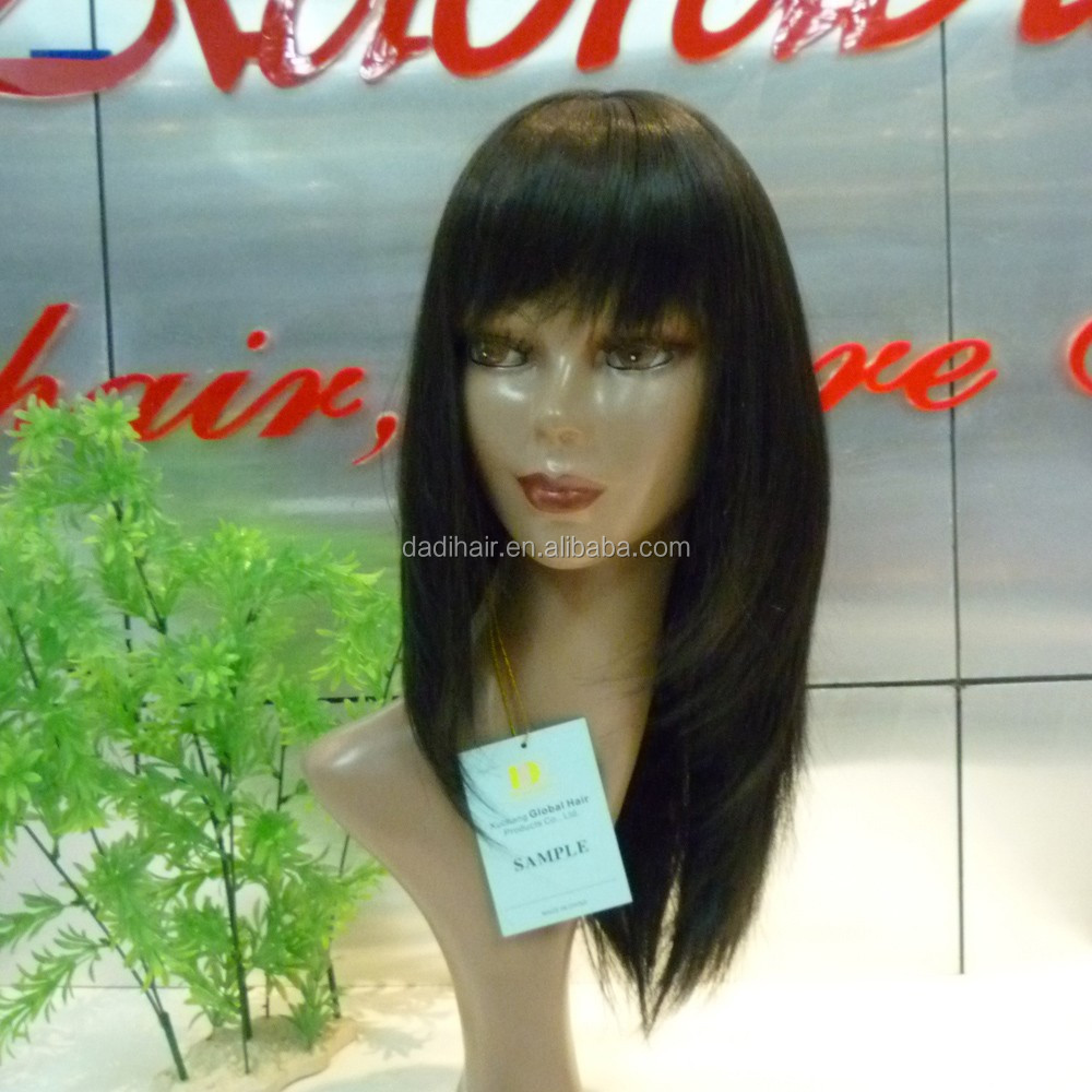 New Arrival Human Hair Wigs With Bangs For Balck Women Loose Wave Cheap African American Wigs