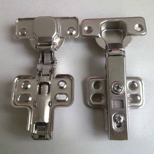 Clip-on soft closing hydraulic hinges for furniture
