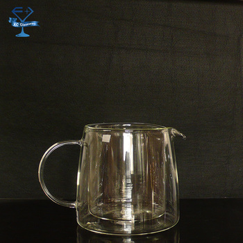 Double walled borosilicate glass carafe transparent heat resistant glass water pitcher without - Heat proof pitcher ...