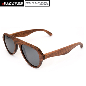 China Factory Custom Polarized Wooden Sunglasses ST013