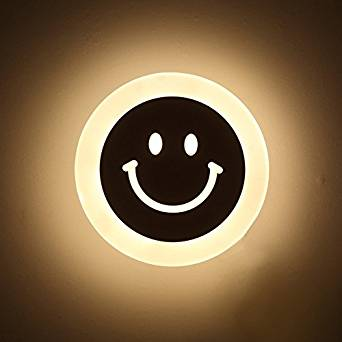CCWY Creative smiley LED Wall lamp bathroom LED Wall lamp transit corridor LED Wall lamp bedroom bed LED Wall lamp