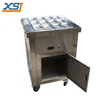 Ice Cream And Fruits Refrigerated Topping Bar With Cabinet ...