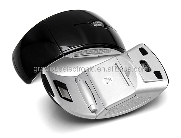 Folding Arc Shaped Custom Color And Logo Printing Wireless Mouse ...