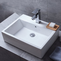 Rectangular Chaozhou Porcelain UPC Bathroom Hand Wash Sink