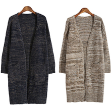 New Arrival Autumn font b Winter b font Slim Fit Long Cardigan Women 2016 Thicken Knitted