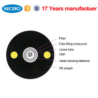6 Core Fiber Optical Cable Two FRP Strength Member GYFXY for CATV