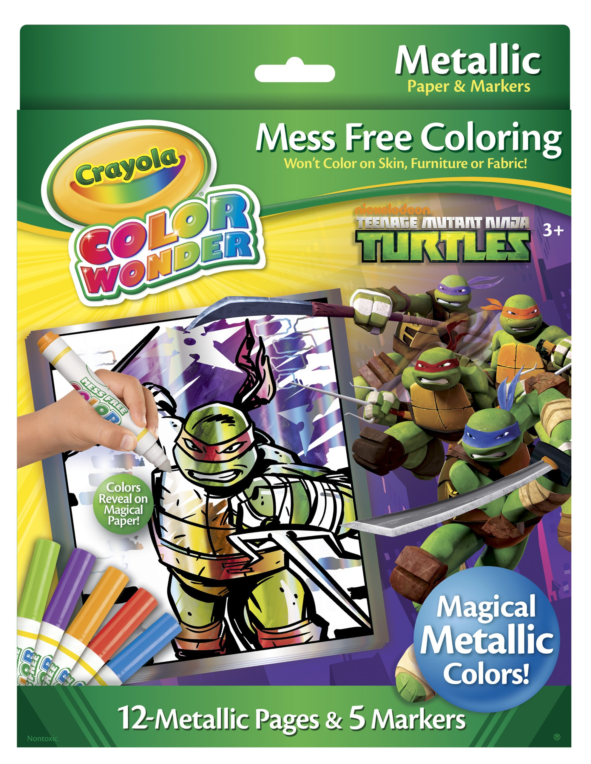 Crayola Color Wonder Metallic Paper & Markers, Teenage Mutant Ninja Turtles 1 ea