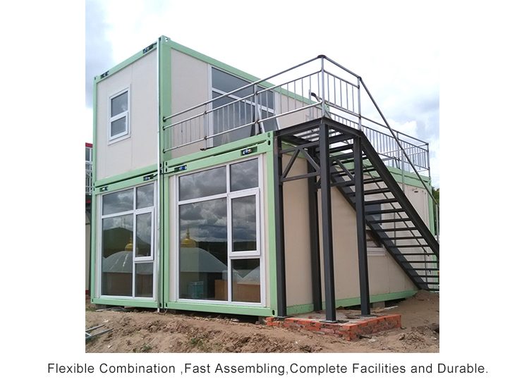 InfiCreation steel premade container homes factory price for booth