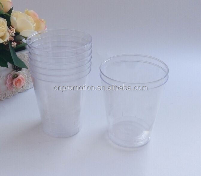 8OZ hard clear plastic disposable airline cup,air line cup