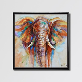 Manufacturers Price Easy Abstract Animal Elephant Wall Decor Paintings