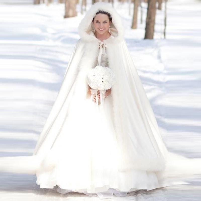 White Wedding Dress Jacket: Elegant Cheap 2015 Warm Bridal Cape Ivory White Winter Fur