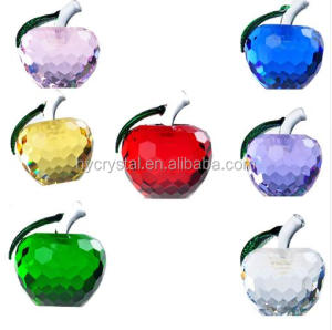 Fancy best birthday crystal apple gift for friend
