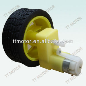 plastic dc gear motor with toy wheel