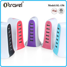 2016 unique design 6 ports USB Charger multi port restaurant cell phone charging station