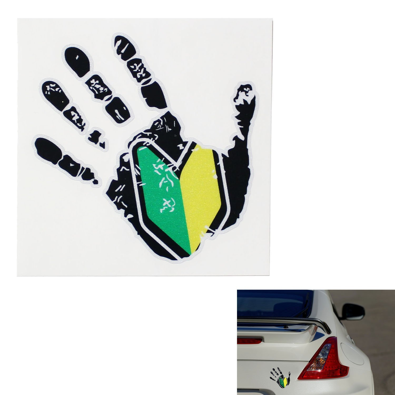 iJDMTOY (2) Graffiti Style JDM Drift Racing Dope New Driver Shocker Hand Shape Decal Sticker