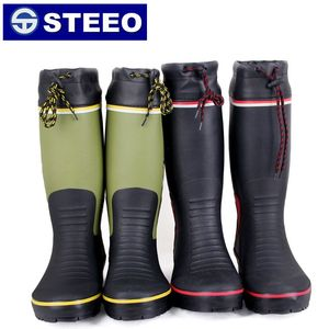 Colorful OEM rubber man fishing boots with protection cover