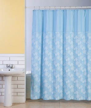 Custom Dubai Ready Made Printed Luxury For Living Extra Long Hemp Shower Curtain