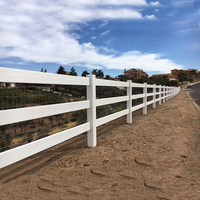 Whole Sale Recyclable and Customizable Plastic Fence Posts,Post and Rail Fence