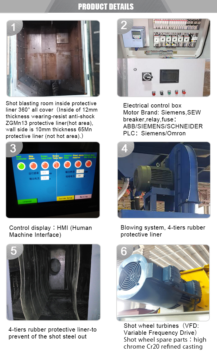 cast steel chromium angle carbide overlay wear abrasion resistant hard facing steel plate shot blasting machine