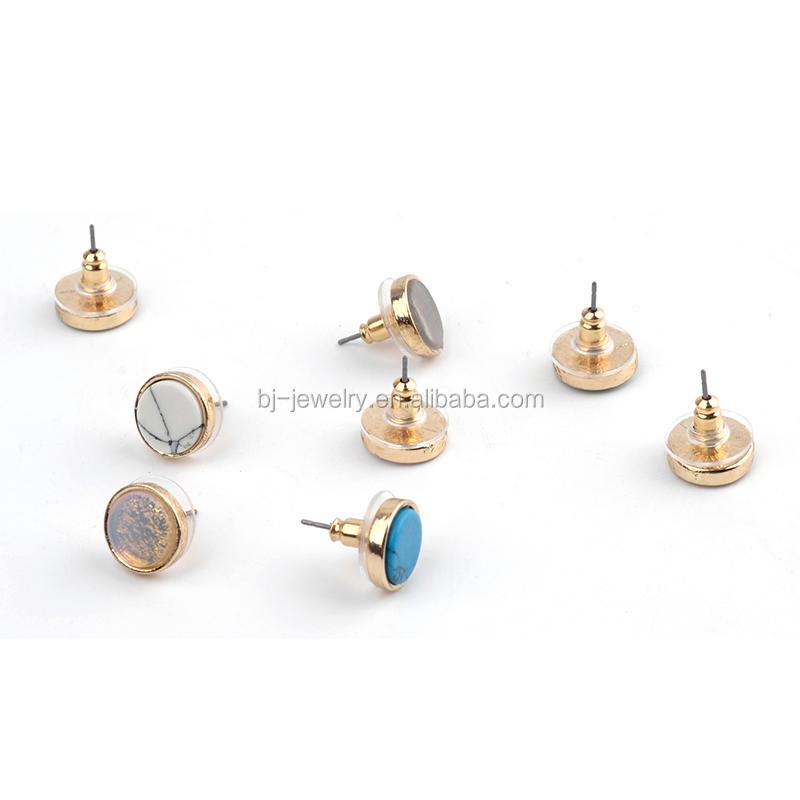 00107 Tibetan Silver Drop Dangle Hoop Stud Earrings 925 Sterling Silver