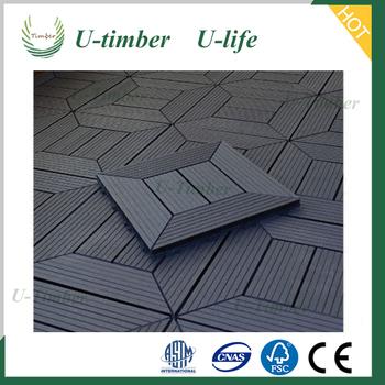 Interlocking Removable Outdoor Floor Tiles Waterproof Composite Decking From U Timber