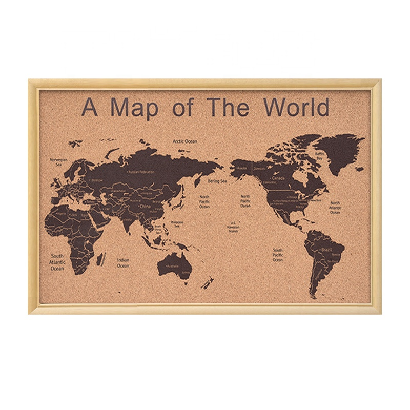 Wall Map With Frame Cork Board For Decoration - Buy Decoration World  Map,Cork Board Map For Sell,Decoration Map On Wall Product on Alibaba.com