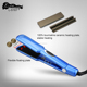 wholesale flat irons blue titanium hair straightener with private label